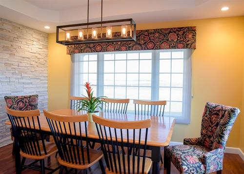 Dining Room - with Cultured Stone Accent Wall