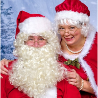 Pictures with Santa + Mrs. Claus