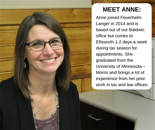 Anne Giese - Payroll Administrator and Staff Accountant