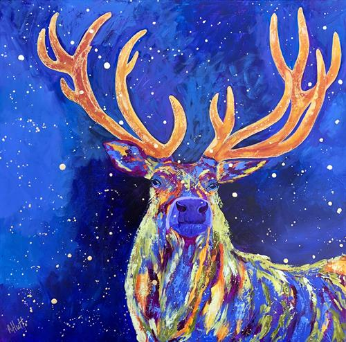Art in many mediums.  Elk from painter Amy Hutto