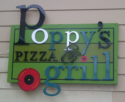 dimensional fabricated logo sign