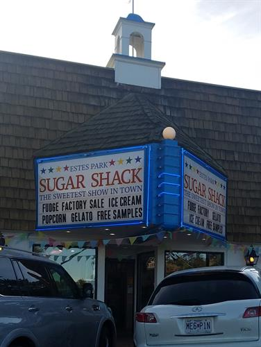 antique marquee sign resored for new business