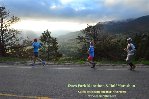 Descending Colorado's Scenic ByWay, runners greet the dawn sky and breathe in mountain freshness!