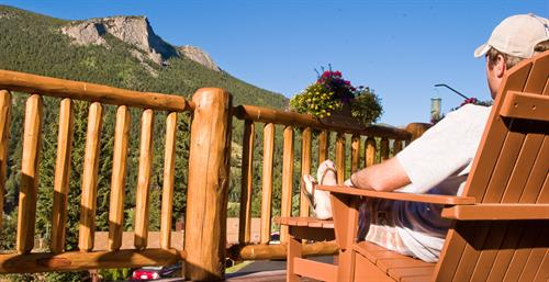Relaxing after a long hike with the best views in Estes Park.