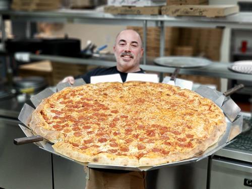 """The """"Tony 3 Feet"""" a 36"""" hand tossed, NY pizza!"""