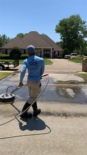 Cement cleaning