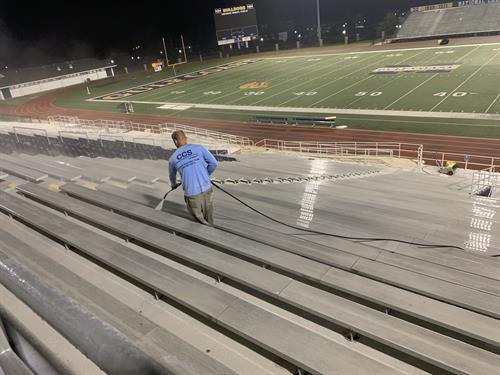 Cleaning MGCCC stadium