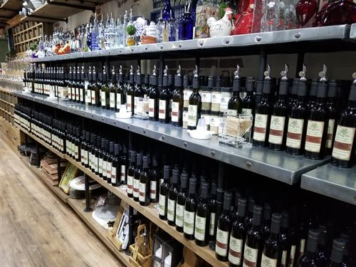 Over 100 Imported, Infused Extra Virgin Olive Oils and Balsamic Vinegars