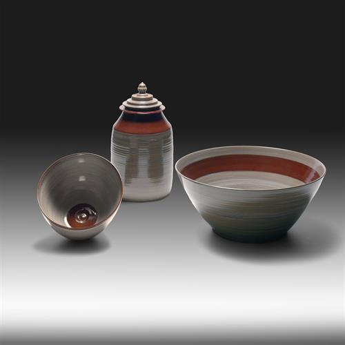 Ramen bowl, Medium bowl & Sculptured Jar