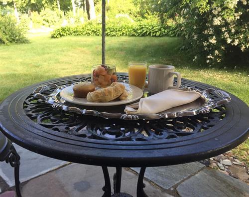 Breakfast on Back Patio