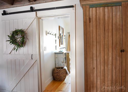 The Barn bathroom off the living room