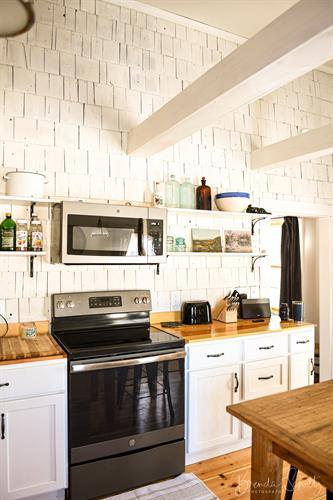 The Barn fully stocked kitchen