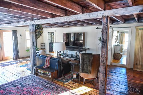 """The Barn living room with 65"""" Samsung smart TV"""