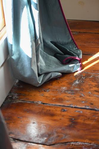 Original barn plank floors add charm and warmth