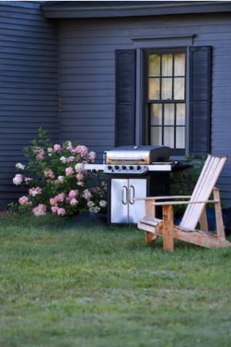 Weber grill off kitchen back door
