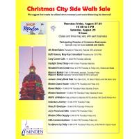 Christmas City Side Walk Sale