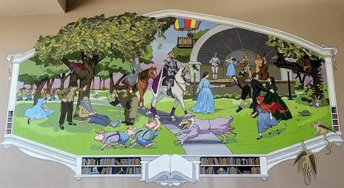 MPL's fantastic new mural by David Carpenter and Erin LaBonte!
