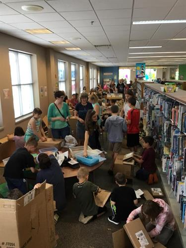Building box forts at the library!