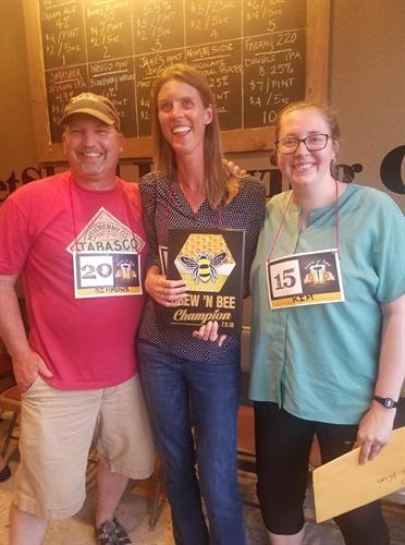 Top finishers at MPL's first annual Brew N' Bee.