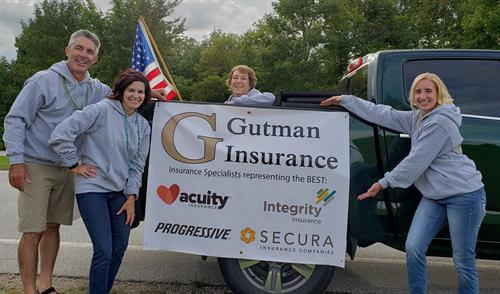 Our staff at the St. Nazianz Parade
