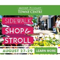 Mount Pleasant Towne Centre to host second annual end of summer Sidewalk Shop & Stroll on August 27 - 29
