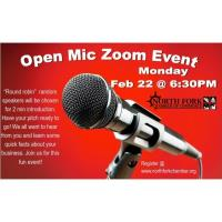 North Fork Chamber Open Mic Zoom Event