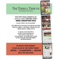 Terrell Tribune Annual Subscriptions