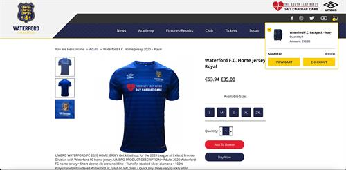Waterford FC shop, custom designed and built.