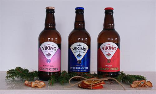 Viking Irish craft cider trio