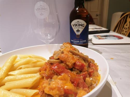 Chicken Crème with Viking Irish Orchard Cuvée Cider