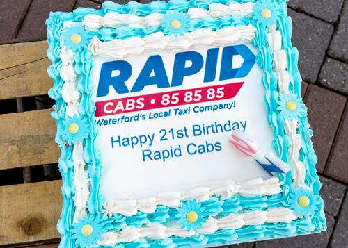 Rapid Cabs 21st Birthday Celebrations March 2020 - Cake