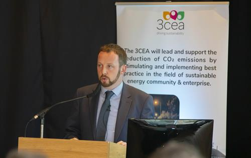 Paddy Phelan, 3cea CEO, addressing audience at 2030 Strategy Launch event