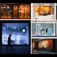 Festive Window Graphics from Swift Print
