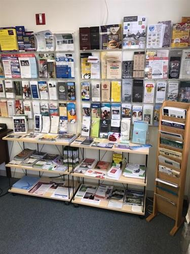 Business Cards & Marketing Materials Display at Skokie Chamber offices