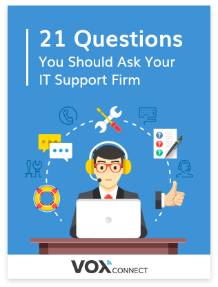 21 Questions to ask yout IT Support Company