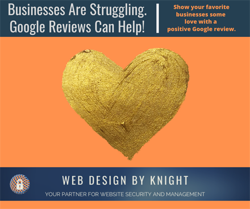 Give businesses a Google Review to help them out!