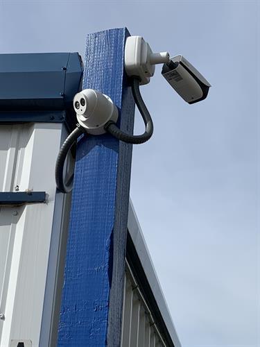 Security cameras through out the facility