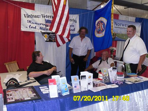 Booth at the Isanti County Fair