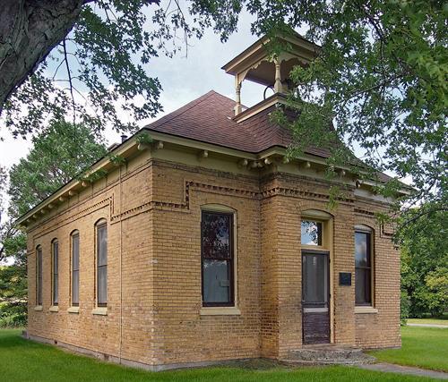 West Riverside School Museum. Located just minutes west of Cambridge.