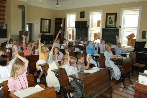 Old Time School sessions are offered 4 weeks a year at West Riverside School.