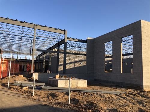 Blaine HS Phase 2.   New main entrance under construction 2020-21