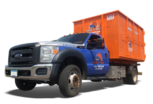 Smaller trucks cet full size dumpsters into tight places