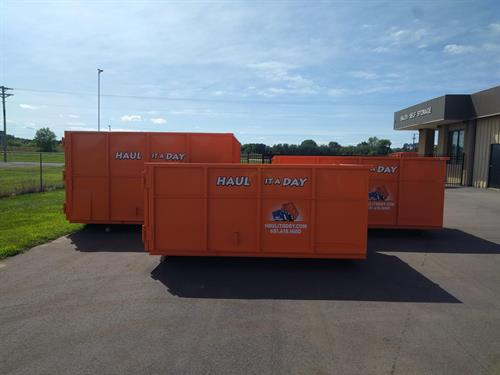 3 sizes 10 yard, 15 yard, and 20 yard dumpsters to meet any need