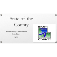 The State of Isanti County - March 2021 Chamber Meeting Follow Up