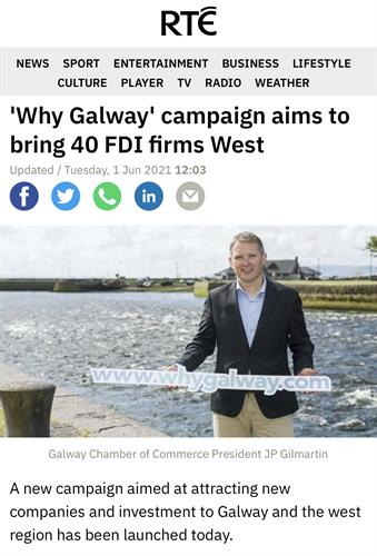 Galway Chamber, 'Why Galway' launch - RTE