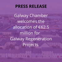 Galway Chamber welcomes the allocation of €62.5 million for Galway Regeneration Projects