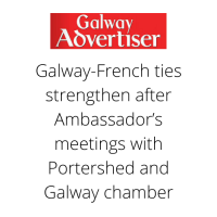 Galway Advertiser : Galway-French ties strengthen after Ambassador's meetings with Portershed and Galway chamber