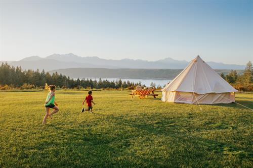 Glamping at AGYC's The Pointe (with Hood Canal Events)