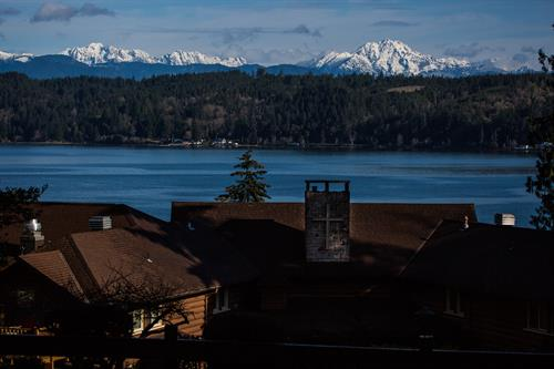 Overlooking the Hood Canal and Olympic Mountains
