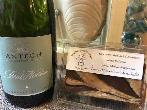 Champagne and Locally Made Fudge